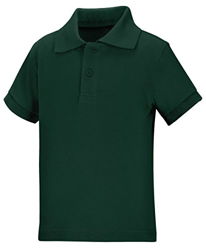Classroom School Uniforms Kids' Toddler Preschool Unisex Short Sleeve Pique Polo, sos Hunter Green, 4T