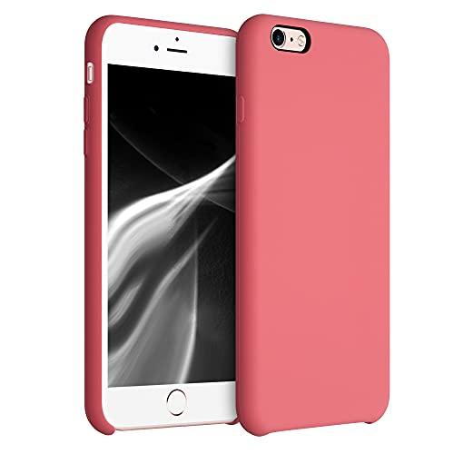 kwmobile Cover Compatibile con Apple iPhone 6 Plus / 6S Plus - Cover Custodia in Silicone TPU - Back Case Protezione Cellulare Rosa Pompelmo