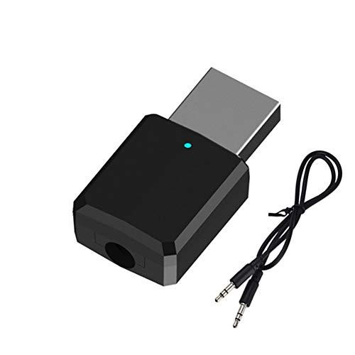 USB Bluetooth adapter, 2-in-1 ontvanger en zender, Bluetooth adapter ontvanger, V5.0 draagbare mini audio adapter zender ontvanger met 3.5mm digitale audio kabel voor PC TV hoofdtelefoon auto radio