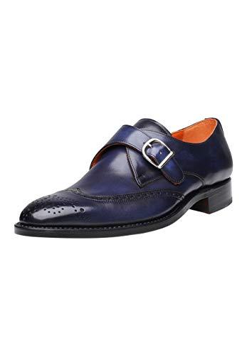 SHOEPASSION - No. 5454 - Schnallenschuhe - Komfortabler Business- oder Freizeitschuh für Herren. Handgefertigt aus Leder mit einmaliger Patina.