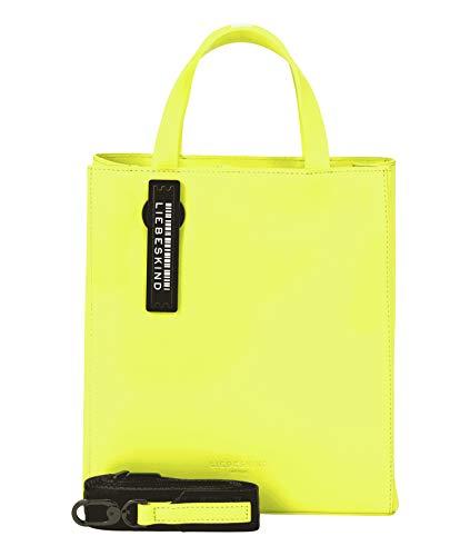 Liebeskind Berlin Damen Paper Bag Tote, neon yellow-466, 11.5x25x20.5 cm