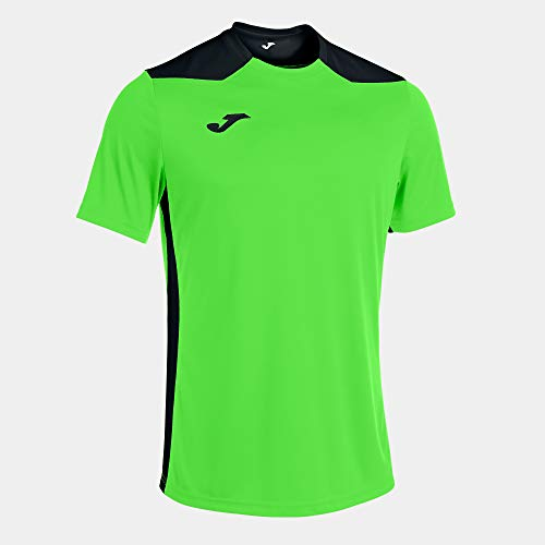 Camiseta Manga Corta Championship Vi Verde Flúor Negro