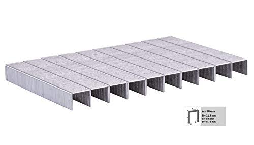 VONROC 1000 grapas de 10mm para grapadora eléctrica