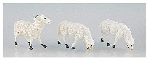Euronatale 20 PZ STATUINE in PLASTICA Pecore Dimensione 4 CM per PRESEPE MODELLISMO Decorazione Natalizia cod. CC20 ENA1159