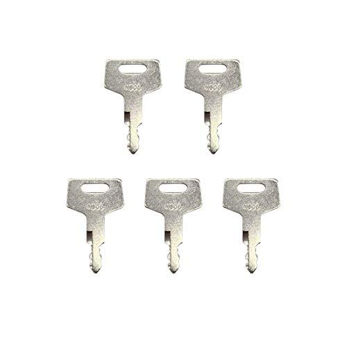 5 llaves de interruptor de encendido H806 17001-00019 para Takeuchi Gehl Case New Holland