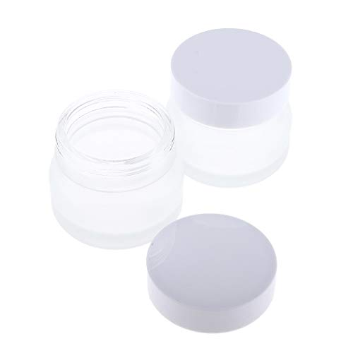 B Blesiya 2x 50g Vide avec Couvercle Cosmetic Container Contenant Vide Rangement pour Crèmes Stockage Onguents Toners Produits de Beauté pour Voyage