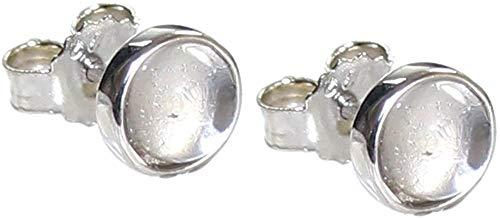 budawi® - Bergkristall Cabochon Ohrstecker 925er Silberohrstecker Ohrringe