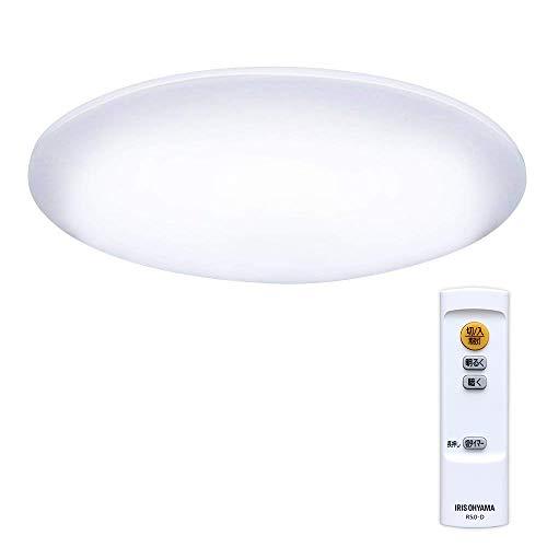 アイリスオーヤマ LEDシーリングライト 調光 ~6畳 (日本照明工業会基準) 3300lm 直径45cm リモコン 省エネ 取付簡単 CL6D-5.0