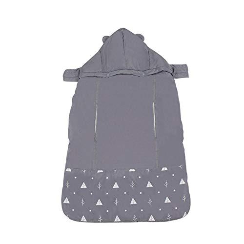 Besteffie - Funda universal con capucha para portabebés – manta gruesa resistente al viento y al viento, lavable, para llevar al bebé, para saco de dormir o cochecito de bebé, Dark Gray, -