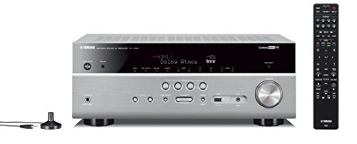 Yamaha RX-V685 MC AV-Receiver (Netzwerk-Receiver mit außergewöhnlichem 7.2 Music Cast Surround-Sound - das Allround-Talent im Heimkino-System – Alexa Sprachsteuerung) titan