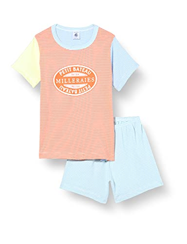 Petit Bateau A00Z601 Pajama Set, Brazilian/Multico, 6 Ans Boys