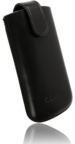 Krusell-Custodia in Pelle per Sony Ericsson Xperia Mini PRO, Colore: Nero
