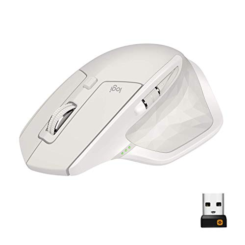 Logitech MX Master 2S Wireless Mouse/Bluetooth Mouse for Mac and Windows - Light Grey (Certified Refurbished)
