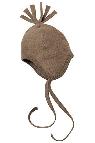 Engel Natur, Fleece Mütze, 100% Wolle (kbT) (86/92, Walnuss Melange)