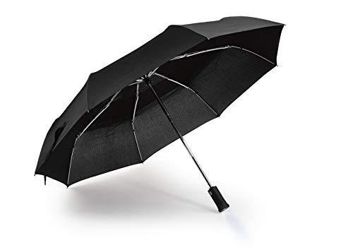 Heim & Büro Windresistenter Regenschirm | mit beweglichem LED Licht | Sturmfest | Aufspann und Schließautomatik