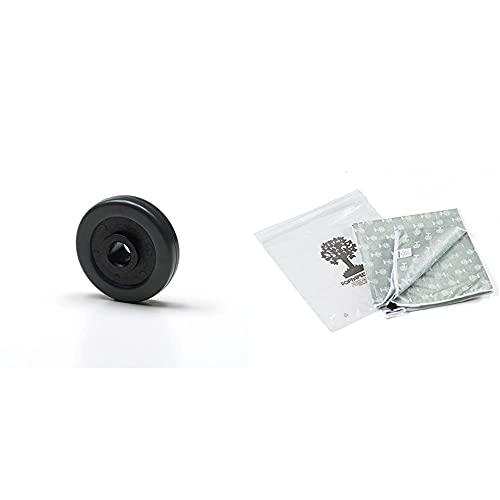 Foppapedretti 4 Ruote Gommate Per Mobili Da Stiro, Nero & Lacopertina - Copertina Ricambio Per Asse Da Stiro, Cotone