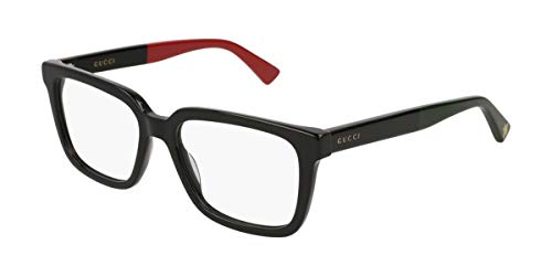 Gucci Eyeglasses Web Gg0160O 003 Black Transparent 53-17-145