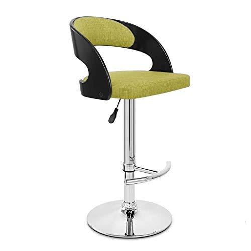 WWWWW-DENG barkruk met hoge rugleuning, bureaustoel met rugleuning, bureaustoelen, verstelbaar, met groene hulp