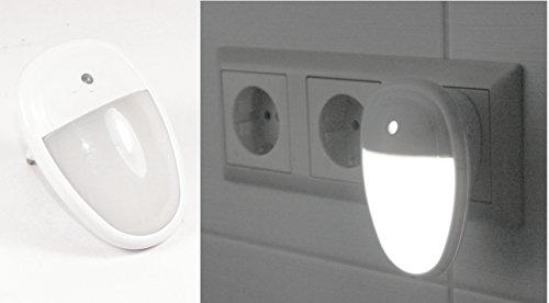 LED 2 stuks nachtlampje -K&B distributeur noodlicht met sensor nachtverlichting lamp 230 V stopcontact 080
