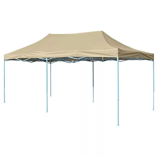 vidaXL Tenda Pieghevole Pop-up 3x6 m da Giardino Crema Tendone Gazebo da Party