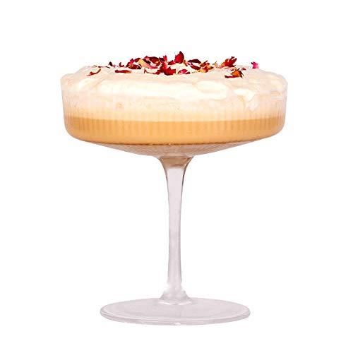 WxberG Copas de champán cupé, copas de vino para el hogar, bar, boda y fiesta de Año Nuevo – Copa de cóctel estilo vintage – 10 oz (color: tipo 1)