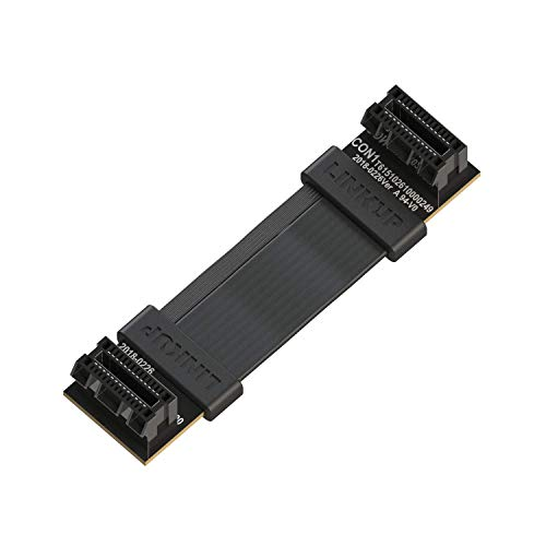 LINKUP - Flexible SLI Bridge GPU Cable Extreme High-Speed Technology Premium Shielding 85 ohm Design for NVIDIA GPUs Graphic Cards┃NOT Compatible with AMD or RTX 2000/3000 GPU - [4cm]
