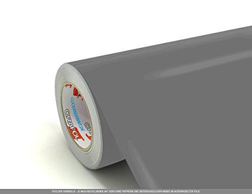 CLICKANDPRINT 3m Klebefolie, 63cm breit, Mittelgrau PR » Autoaufkleber/Fahrzeugaufkleber/PKW-Aufkleber/Kraftwagenaufkleber/Fuhrwerkaufkleber/Verkehrsmittelaufkleber