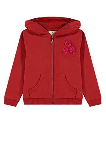 TOM TAILOR Kids Mädchen Sweatjacket Placed Print Sweatjacke, Rot (Toreador Red 2242), 116 (Herstellergröße: 116/122)