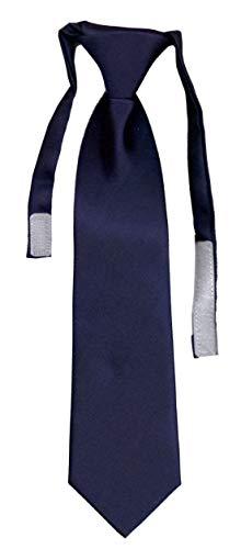 Cravate enfant unie solid navy VII