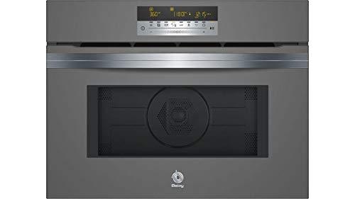 Balay 3CW5179B0 - Microondas Integrable, 44 Litros, 60x45cm, Programa 15 Recetas, Cristal Gris Antracita