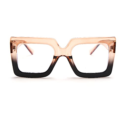 WOJING Gafas De Sol cuadradas Vintage Retro para Mujer, Montura Colorida, Lentes Transparentes, Gafas De Sol, Gafas Femeninas