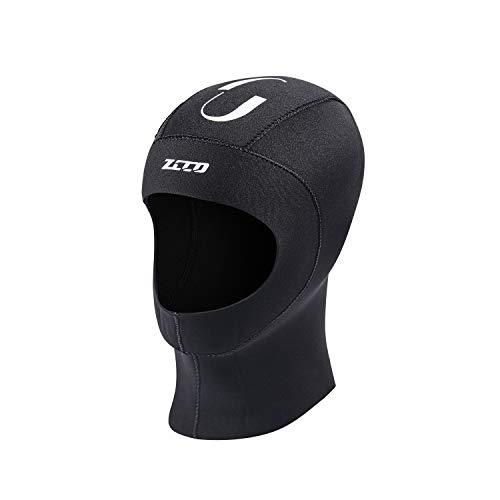 ZCCO Capucha de buceo de neopreno de 3 mm para traje de buceo mantiene caliente y duradero, elástico para buceo, snorkel, surf, kayak, natación, vela, canoa, equipo de pesca (5 mm, M)