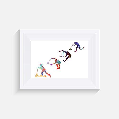 Roller Barspin Inspirier - Drucken - Poster - Aquarelle - Wandkunst- verschiedene Größen(Rahmen Nicht Inbegriffen)