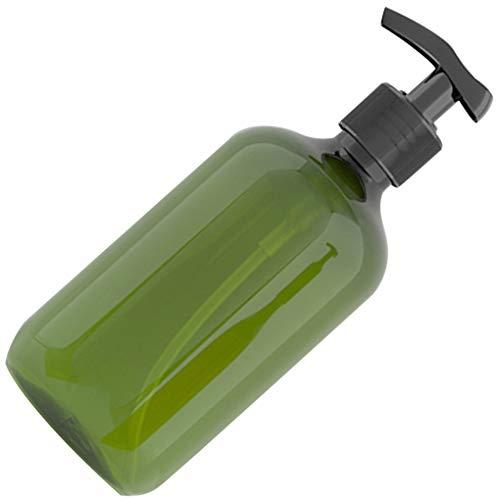 Luckiests 500 ml Pet Recargable Botella vacía Champú Bomba de la loción de Prensa de Maquillaje dispensador Recipiente de plástico, de Color Verde Oscuro