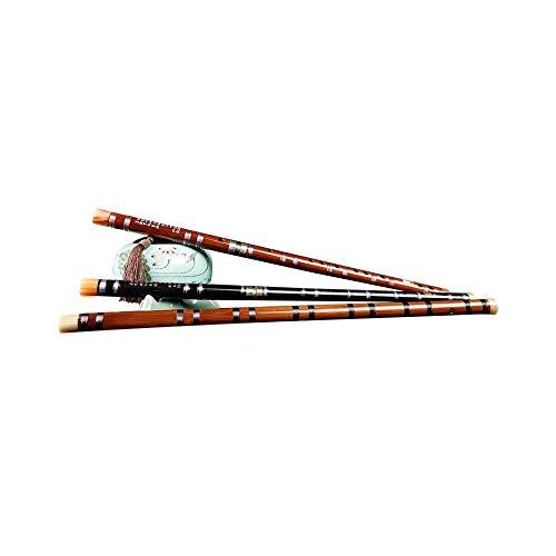 GUYUEXUAN Flauta, adecuado para principiantes para aprender flauta de bambú, estilo antiguo, flauta refinada, adecuado para exámenes profesionales de alta calidad, Black-D
