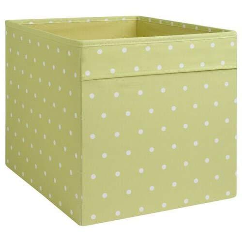 Generisch IKEA Dröna Aufbewahrungsbox für Kallax Regale Box Fach Kiste 33x38x33 cm (Grün gepunktet)