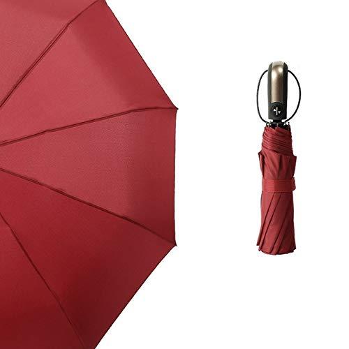 BDWS Paraguas 35x6x6cm Moda a Prueba de Viento Suave Plegable Compacto Completamente automático Paraguas de Lluvia Equipo de casa Lluvia Estados Unidos 03 Rojo