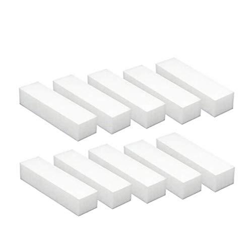 10pc White Buffer Buffing Polish Block Sanding Files Gel Acrylic Nail Art Tool,Beauty Item Accessories for Women