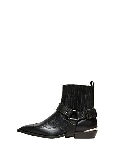 Selected Damen Slfabigail Cowboy Boot B Stiefel, Schwarz, 40 EU