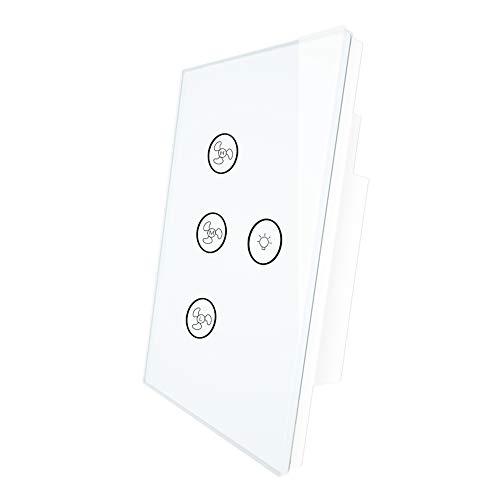 Interruptor de pared de luz de ventilador de techo inteligente MOES WiFi, temporizador remoto y cuenta atrás de la aplicación Smart...