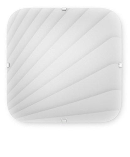 Philips 312403116 Mezen Luminaire d'Intérieur Plafonnier LED Verre Blanc 17 W