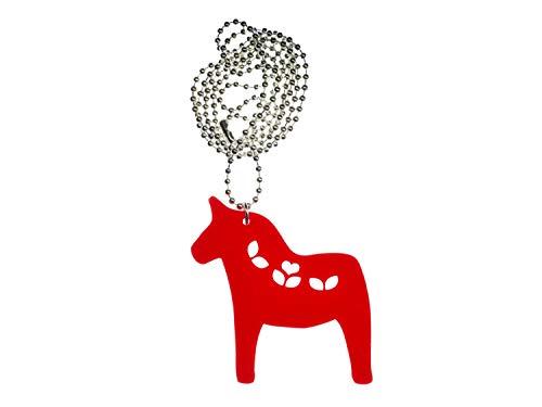 Miniblings Dalapferd Kette Halskette Tier Pferd Dala Schweden rot Acrylglas 80cm