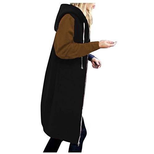 TWIOIOVE Abrigo De Invierno Mujer Libre Abrigos para Mujer Rebajas Talla Grande Abrigo con Capucha De Manga Larga Vintage Cremallera Señoras Abrigos con Bolsillos Gruesos De Lana