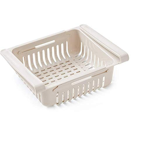 Kühlraum-Speicher-Fach-Multifunktionsfach - Speicherregal-Gefriermaschine Schieben Küche Kühlraum-Gefriermaschine Platzsparendes Regal Normallack-Trennung Sortieren des Speicher-Kastens Kühlschrank Sp