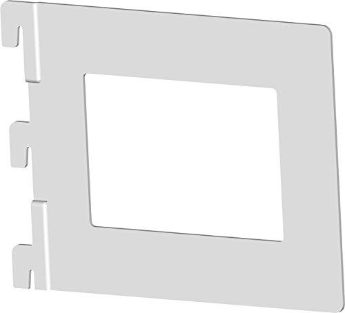 Element System Livres Carthage de Repassage, 4 pièces pour 1 et 2 rangées de Rails muraux Blanc