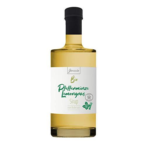 Bio Pfefferminze-Lemongras Sirup 500ml - Genüssle Zitronengras Pfefferminz Sirup vom Bodensee - Sirup für heiße Tage zum eiskalt genießen