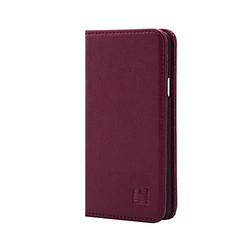 32nd Klassische Series - Lederhülle Case Cover für Samsung Galaxy S6, Echtleder Hülle Entwurf gemacht Mit Kartensteckplatz, Magnetisch und Standfuß - Burgunder