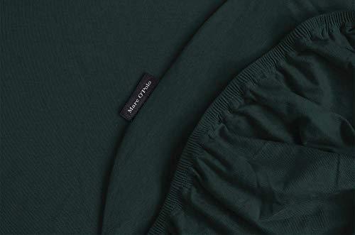 Marc O?Polo - Sábana Bajera Ajustable (140/160 x 200/220 cm, 97% algodón, 3% Elastano), Color Verde