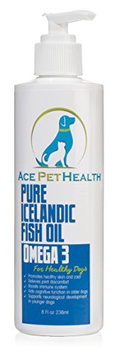 Best Omega 3 Fish Oil for Dogs - Human grade Fish oil for dogs - 100% Fish Oil, no bulking agents - Supports joint, skin and coat health - Virtually No Fish Odor - 60 day peace of mind guarantee - 8oz