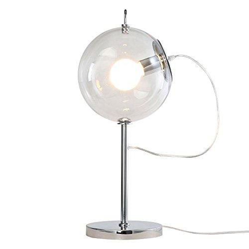 Nordique Moderne Boule Transparente Verre Lampe de Table Creative Moderne Minimaliste Chambre Chevet Fer Forgé Lampe de Bureau Art Savon Bulle Style Étude Salon Thème Table Lumineuse
